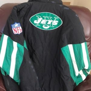 Jets warm pullover jacket throwback